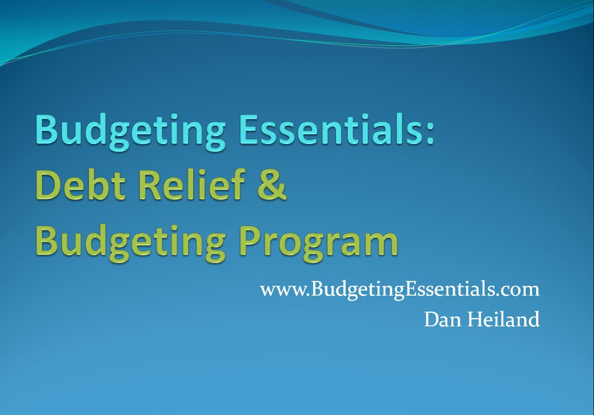 Budgeting Essentials: Debt Relief & Budgeting Program