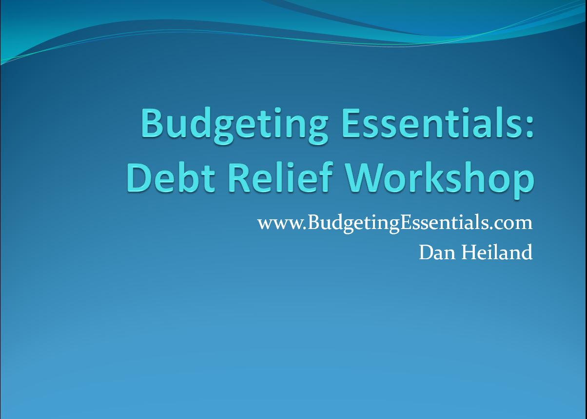 Budgeting Essentials: Debt Relief Workshop